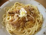 豚肉ときのこのしょうが風味スパゲティ