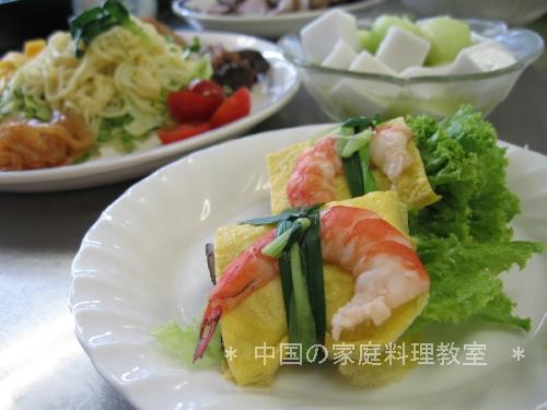 薄焼き卵の野菜巻き