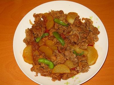 豚肉と大根のシシトウの煮物H19.8.6