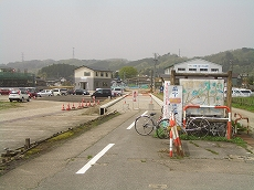 サイクリングロード。加越線跡。