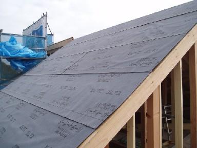 屋根ルーフィング貼り1010UP2A