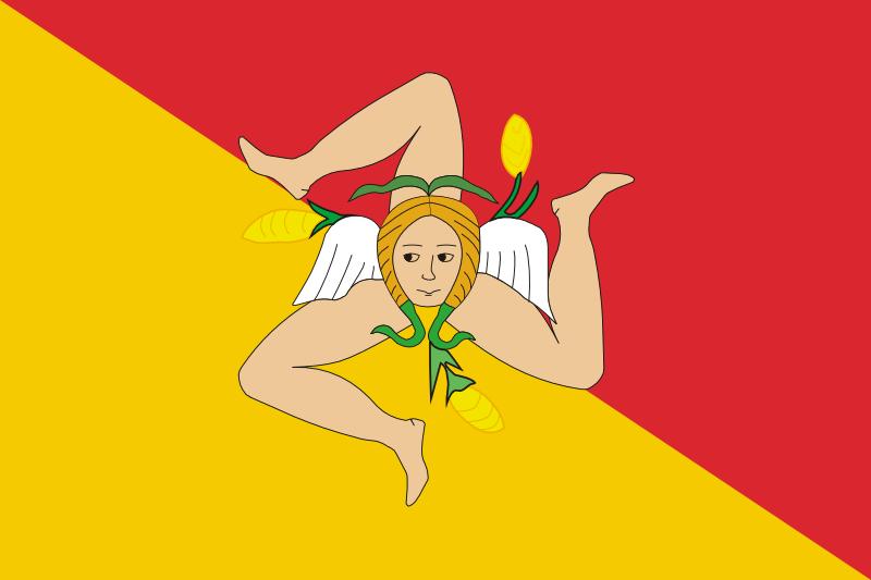 シチリア州旗
