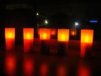 LEDのキャンドル