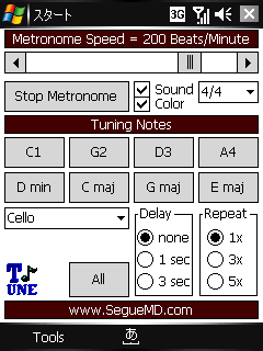 Pocket Tune for the Pocket PC