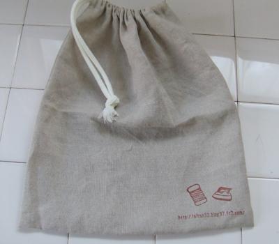 リネンの巾着