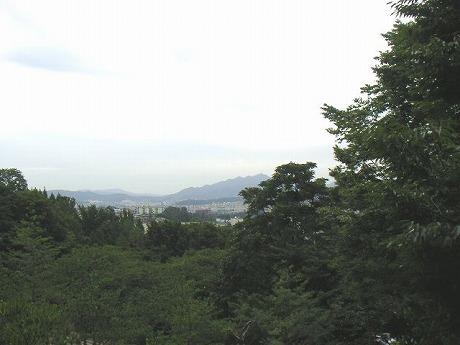 南山公園から見た景色。