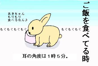 ご飯を食べてる時。
