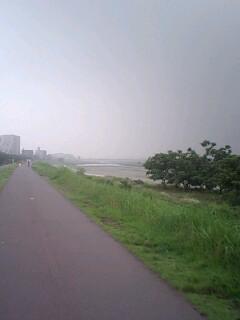 20070713曇りの多摩川