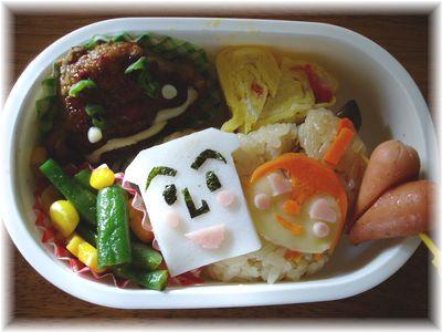 しょくぱんまん&ドキンちゃん+カレーパンマン弁当