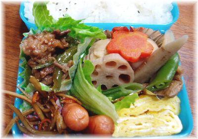 ピーマンと牛肉の炒め物弁当(ダンナ弁)