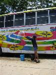 Thai バス洗浄中