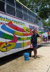 Thai バス洗浄敬礼