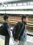 某駅にて・・・