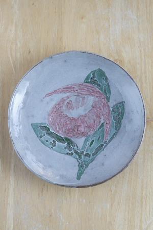 071205アツモリソウの皿