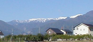 残雪の白根三山