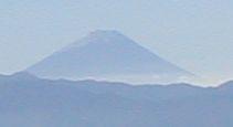 冠雪した富士