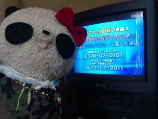 アナログテレビと記念撮影