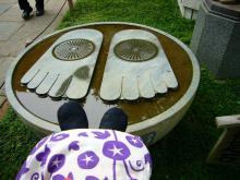 仏足石とばぶ足