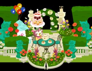 ケーキも準備して、お茶も入れて・・・♪