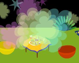 最後はテーブルの黄色です