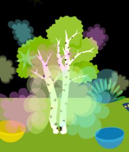 今日も1発目から、キャベツ・・・いや白樺の木