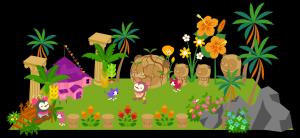 南国らしいお花が沢山の公園で、お散歩!
