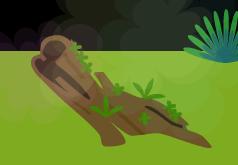 2回目、木のベンチ
