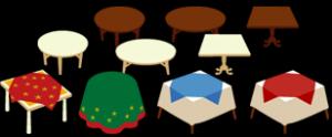 ベースアイテムのテーブルたち