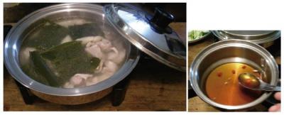 今夜は鍋です!野菜たっぷり、ヘルシー鍋。だしもポン酢も手作りです!2007.9.26
