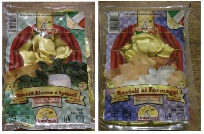 リルマフードのラビオリ チーズ入りラビオリと チーズ&ホウレンソウ入りラビオリ。  2007.10.14