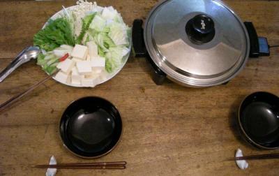 今夜は鍋です!野菜たっぷり、ヘルシー鍋。2007.9.26