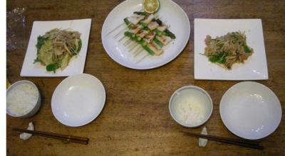野菜たっぷり八宝菜!鮭の塩焼き!2007.9.27