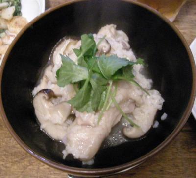 サムゲタン風のおかゆ!とても美味しかった!2007.10.2