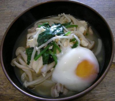 野菜たっぷり鍋焼きうどん!2007.10.6