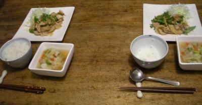 生姜焼きとコンソメスープ!2007.10.16