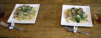 真鯛と野菜たっぷりパスタ!白ワインの香り!2007.10.19