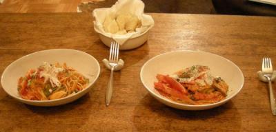 たらばがにときのこ トマトとクリームのパスタ!2007.10.20
