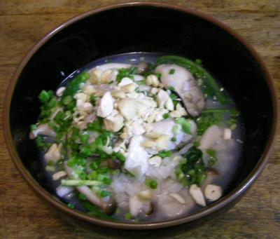 牡蠣のおかゆ 優しい味です。2007.10.22