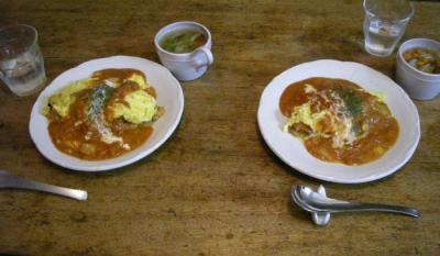 本日は洋食屋さん!オムライスと野菜スープ!2007.10.26