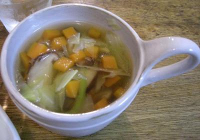 本日は洋食屋さん!野菜スープ!2007.10.26
