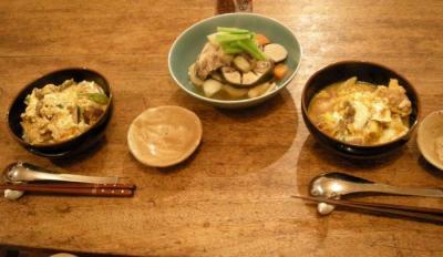 親子丼!と ブリのあらと野菜たくさんの煮物!  2007.10.28