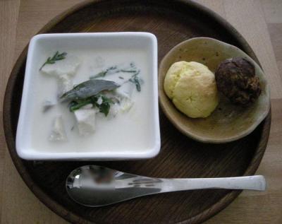 ミルクスープとスコーンの朝食!2007.11.28