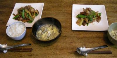 酢豚と牡蠣の雑炊!2007.12.8