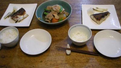 さばの塩焼き!豚の角煮!2007.12.10.
