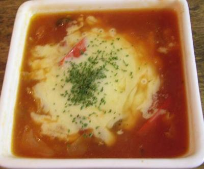 野菜たっぷり!トマトスープ!チーズ入り!2007.7.25