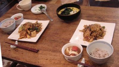 回鍋肉ととろろごはん!2007.7.29