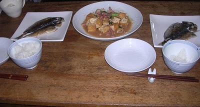 干物と厚揚げの炒め物!2007.9.12
