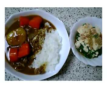 カレー&ニラ豆腐