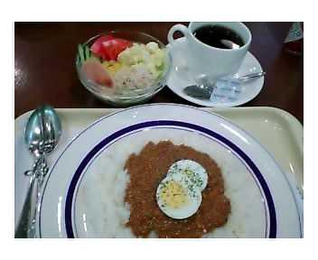 ドライカレー&サラダ&アメリカンコーヒー