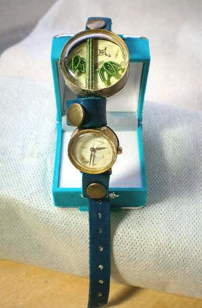 竹、手作り腕時計